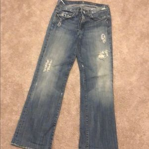 Distressed 7 for all man kind jeans